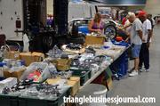 Vendors were also inside the convention center, selling merchandise and parts for those classic cars.