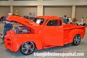 A custom 1954 Chevrolet with a 502 C.I. Chevy motor.