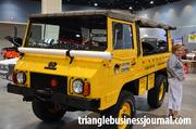 """This 1974 Pizngauer 710M really stands out as the """"Critter Control."""" This vehicle in its previous life was an Austrian troop transport vehicle."""