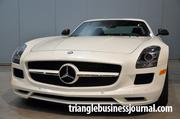This Mercedes AMG SLS was getting a lot of attention at the car show.