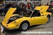 A very yellow 1974 Ferrari Dino.