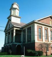 #5: Chatham County (Pictured Chatham County courthouse)Average Salary: $31,964Growth (2008-2011): 1.8%Art Credit: nccourts.org