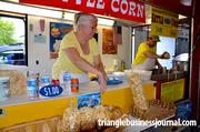 Crossroads Kettle Corn was selling small and large bags of sweet and salt corn, ranging from $4-$8 per bag.