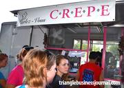 Parlez-Vous Crepe was at the Durham Food Truck Rodeo with several crépes on hand, including the La Napoléon, which features turkey breast, basil pesto, mozzarella cheese and tomatoes.
