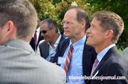 Raleigh Mayor Charles Meeker, along with Duke Realty's Jeff Sheehan (to Meeker's left) attended the event.