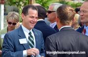 Mack Paul of K&L Gates mingles at the Midtown Raleigh Alliance event.