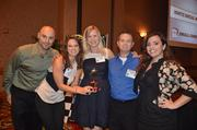 Employees with Ignite Social Media at the 2012 Best Places to Work Awards.