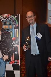 Eddie Speas with Coldwell Banker Advantage at the 2012 Best Places to Work Awards.