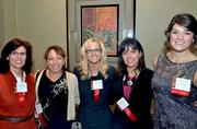 TW Telecom employees Karen Geringer, Lori Morgan, Maggie Martin, Susan Poteat, and Clarkston Consulting's Maggie Seeds (left to right).
