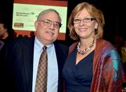 Mayor Nancy McFarlane, right, and her husband, Ron, on hand to accept the award for MedPro Rx.