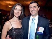 Jones & Frank's Peter Laramore, right, along with his wife, Lyndsey.