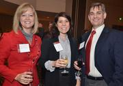From left to right: Tina Cochrane with Hire Networks, Karen Bell with Freudenberg IT, and Scott Bell with Square 1 Bank.