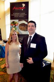 Sesha Gaston and Todd Henderson with Sullivan's Steakhouse were among exhibitors on hand during the 2012 Health Care Heroes Awards.