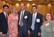 From left, Dr. Albert Chang, Sarah Wesley Fox, Craig Wheaton, Health Care finalist Dr. David White and Katie Gillis pose for a photo prior to take a seat at the 2012 Health Care Heroes Awards.