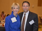 Health Care finalist Katherine Thomas and Duke Raleigh Hospitals' President Doug Vinsel.