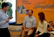 Sleep Health Centers was just one of the many vendors at the expo.