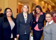 Blue Cross and Blue Shield of North Carolina's Jessika Jones, Donna Medlin, Adrianne McCree and Tanisha Wilder.