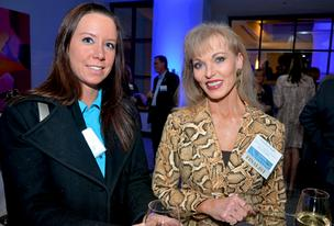 Linda Craft with Linda Craft & Team Realtors, right, and a friend attend TBJ's Real Estate Awards.