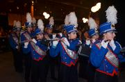 Leading the attendees to the dining room was a marching band during the 2013 Frankie Lemmon's Triangle Wine Experience.