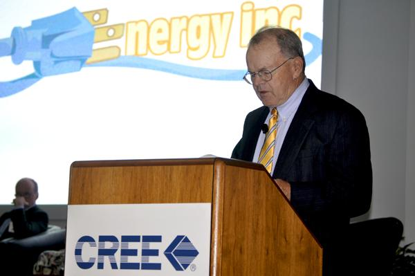 Robert Gruber, executive director of the North Carolina Utilities Commission's Public Staff, moderated the event.