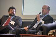 Stephen Kalland and Dave Pacyna at the Energy Inc. event hosted by Triangle Business Journal.