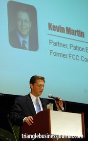 Former FCC Commissioner Kevin Martin was one of three keynote speakers at the Triangle Business Growth Expo.