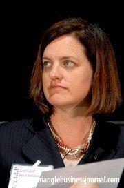 North Carolina Treasurer Janet Cowell was the moderator for the regional leadership panel.