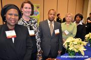 One of the event's sponsors, Cigna, sent a group to attend the event. Cigna employees from left to right include: Earline Motley, Amanda Dickhoff, Kevin Thornton, Kathy Warwick and Denise Simms.