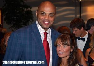 Jimmy V mainstay and NBA great Charles Barkley takes some time out to get his photo taken with fans.