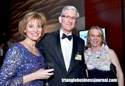 President of ABC 11 Caroline Welch, right, along with News Director Rob Elmore, center, and a friend.