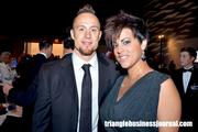 Carolina Hurricanes D-Man Joe Corvo along with his wife at the Jimmy V Gala inside the Raleigh Convention Center.