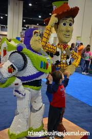 Buzz Lightyear and Woody from Pixar's Toy Story were a popular attraction for the little ones.