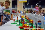 """The """"Garden of Giving"""" allowed attendees to build their very own Lego flower. Lego will donate $1 for each flower made to benefit the N.C. Children's Hospital's Children's Promise fundraiser."""