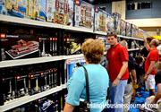 Adults were also having a good time shopping for the latest Lego merchandise.