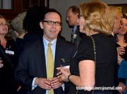 General Director of the North Carolina Opera, Eric Mitchko, chats with Nancy McFarlane, the soon-to-be Raleigh mayor.