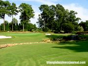 A view of the green at Hole No. 5 at Raleigh Country Club.