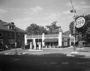 Blowe's service station in Raleigh as it looked on June 25, 1941. It later became a Biscuit Station.