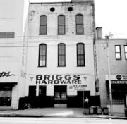 The Briggs Hardware store building still stands, but it looks different now than in this old photo taken when the store was still in business.