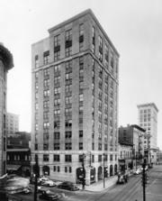 A view of the Capital Club Building on Salisbury and Martin Streets from September 1923.