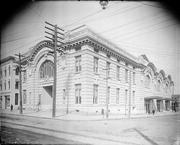 A photo of the City Hall and Old Auditorium in Raleigh taken sometime between 1910 and 1915.