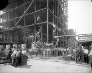 Commercial National Bank is under construction in this photo from September 1912.
