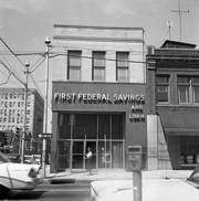 The First Federal Savings and Loan building in Raleigh.