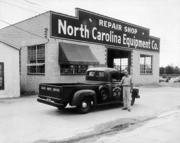The N.C. Equipment Co, shown in this shot from around 1946, once was one of Raleigh's most recognizable businesses.