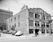 This old photo shows the Rawls Motor Company.