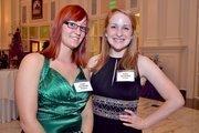 Event volunteers Stephanie and Kristen.