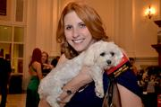 Kathy Lee, a member of SPCA's board, along with her dog, Lexi.