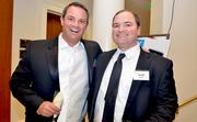 Rich Lee, left, along with friend Brett Hayes at the Fur Ball.