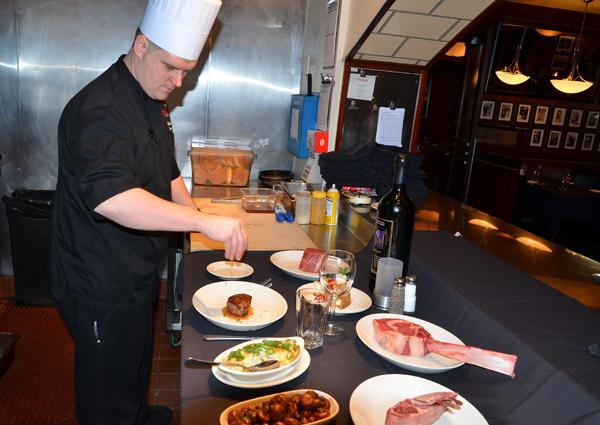 Sullivan's Executive Chef Robert Crawford has been serving up dishes at the restaurant for the past three years. While there, he's made dishes for various members of the Carolina Hurricanes, Boston Bruins netminder Tim Thomas, as well as comedian Jerry Seinfeld and singers Carrie Underwood and Clay Aiken.