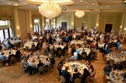 Attendees enjoy their lunch at the Prestonwood Country Club.