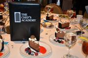 Each table was lined with chocolate delight.